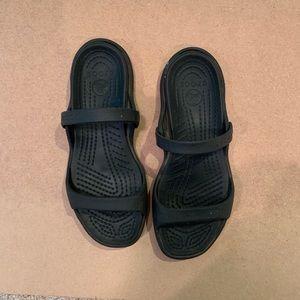 Crocs Black Cleo Sandal, size 8